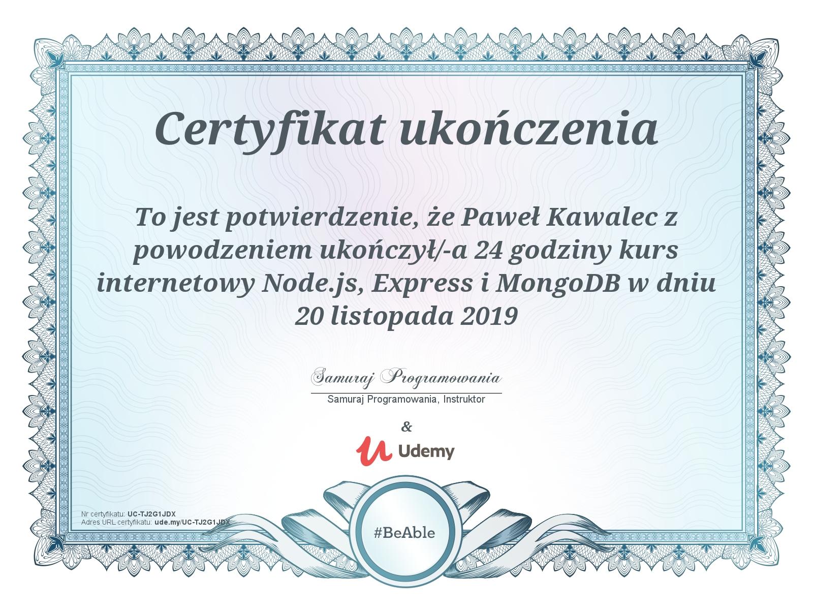 Node.js, Express i MongoDB