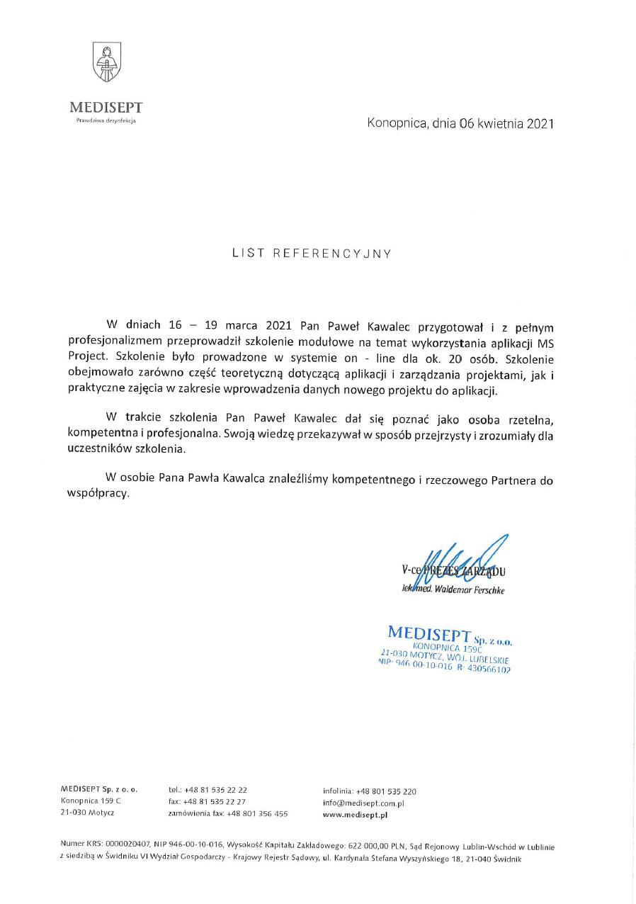 Medisept - MS Project